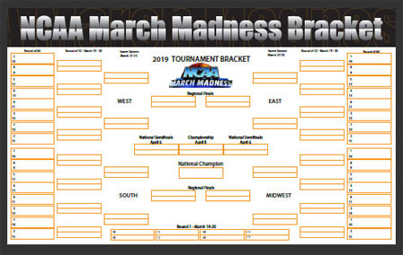 2020 Free March Madness Pritable Bracket